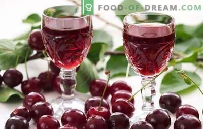 Naminis vyšnių likeris degtinėje yra skanus delikatesas suaugusiems. Ką valgyti su naminiais vyšnių tinktūra ant degtinės?