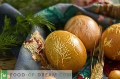 Kaip dažyti kiaušinius Velykams su ciberžolėmis, svogūnų žievelėmis, marle ...