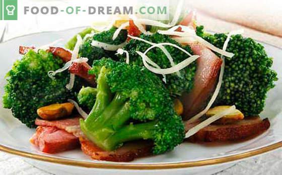 Brokoli salata - pet najboljših receptov. Kako pravilno in okusno kuhano brokolijevo solato.