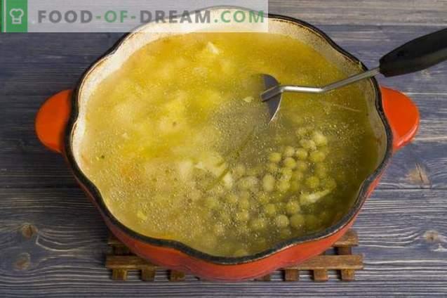 sriuba su konservuotais žirneliais