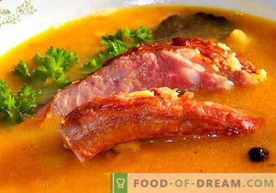 Kiaulienos sriuba - geriausi receptai. Kaip tinkamai ir skaniai virti sriubos kiaulienos sultinyje.