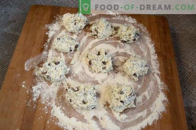 Sūrio pyragai su aguonomis ir razinomis - vaikystės skonis