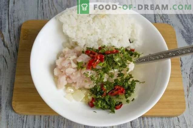 Baklažanai, įdaryti ryžiais ir vištiena