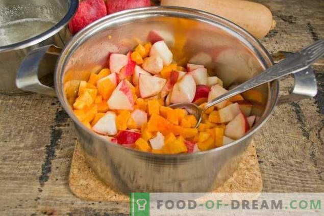 Apple jam with pumpkin - the sweet taste of autumn