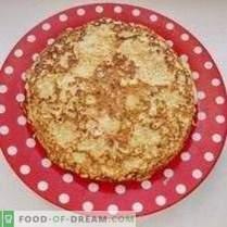 Cukinijų blynų pyragas