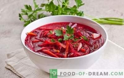 Kaip gaminti liesą borsą: su grybais, pupelėmis, šprotais, giromis. Lean borscht receptai - atkreipkite dėmesį!