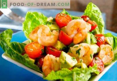 Salat mit Avocado und Garnelen - bewährte Rezepte. Wie man einen Salat mit Avocado und Garnelen zubereitet.