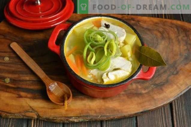 Ryžių sriuba su vištiena ir porais