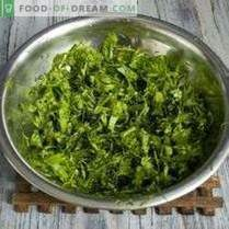 Žaliųjų derlių žiemai: salotų ir česnakų sriubų prieskoniai, ...
