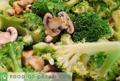 Brokoliai su grybais