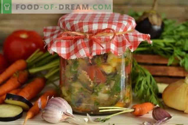 Baklažanų salotos žiemai be sterilizacijos