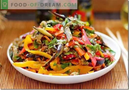 Korėjiečių baklažanai - geriausi receptai. Kaip tinkamai ir skaniai virti baklažanų Korėjoje.