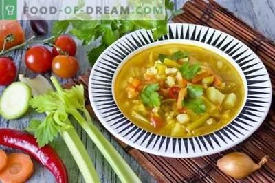 Vištienos krūtininė sriuba su cukinija ir ciberžolė