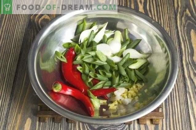 Žalieji ryžiai su mėsos gabaliukais