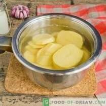 Bulvių košė - receptas su pienu ir sviestu