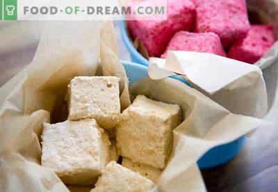 Naminiai marshmallows - geriausi receptai. Kaip virti marshmallows namuose.