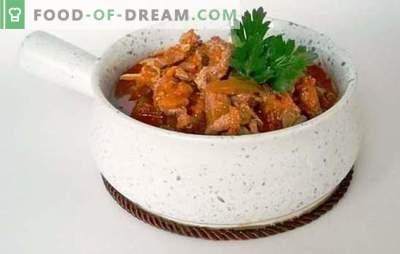 Tatarų azu su marinuotais kvapais - kvapą gniaužiantis aromatas! Receptai ir fantazijos azu su marinuotais agurkais