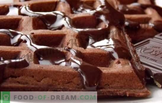 Waffles de chocolate - receitas de uma iguaria esquecida. Como fazer waffles de chocolate perfumado
