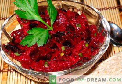 Žaliųjų runkelių salotos - geriausių receptų pasirinkimas. Kaip tinkamai ir skaniai virti žaliavinių burokėlių salotos.