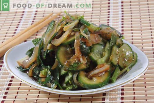Salotos su sojos padažu - geriausių receptų pasirinkimas. Kaip tinkamai ir skanios salotos, virtos su sojos padažu.