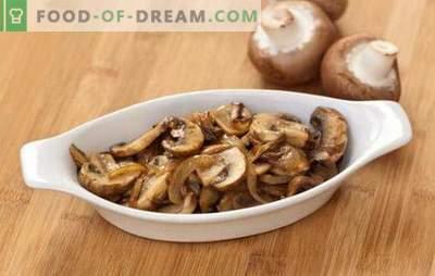 Kepti grybai su svogūnais - paprasti ir skanūs, greiti ir gražūs! Pasirinkta populiarių keptų grybų receptų su svogūnais
