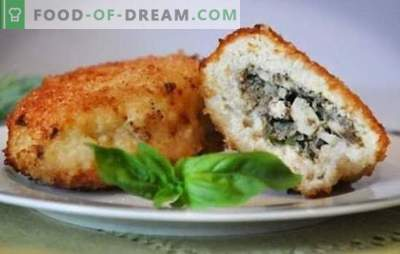 Zrazy mit Pilzen - ein Gericht mit Überraschung! Rezepte für Fleisch, Kartoffel-Zraz mit Pilzen und Käse, Gemüse, verschiedene Saucen