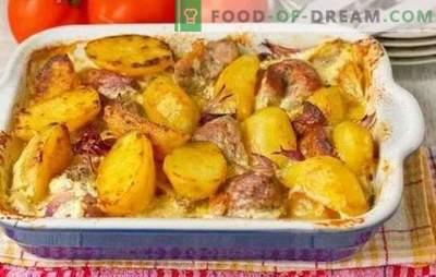 Namų kiauliena su bulvėmis yra labai paprasta. Kepta, troškinta ir kepti kiaulienos patiekalai namuose su bulvėmis