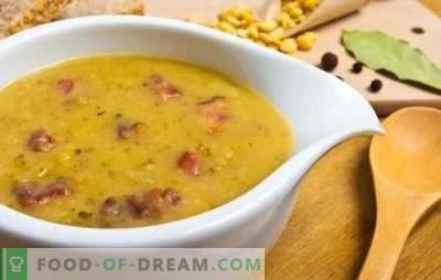 Žirnių sriuba su dešra: pirmojo kurso biudžetas. Receptai žirnių sriuba su dešra: virti ir rūkyti