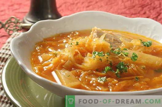 Kopūstų sriuba - geriausi receptai. Kaip tinkamai ir skaniai virti kopūstų sriuba.