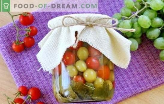 Pomidory z winogronami na zimę - oryginalna receptura na pikantną przekąskę. Jak gotować pomidory z winogronami na zimę