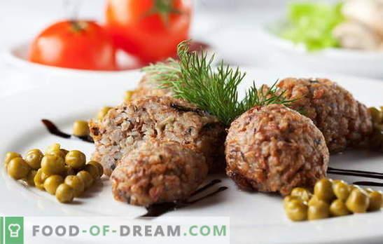 Grikių kotletai yra puikus būdas mylėti grikius. Grikių kotletų receptai su grybais, malta mėsa, kepenimis, sūriu ir daržovėmis