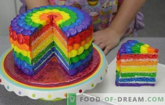 """Nustebino skonio ir spalvos: pyragas """"Rainbow"""", pagamintas iš sausainių ar želė. Receptai pyragai"""