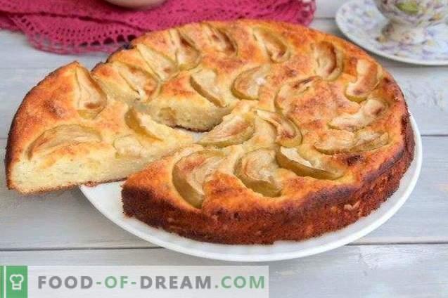 tarte au fromage avec pommes et raisins secs
