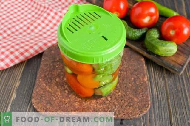 Marinuoti agurkai su pomidorais - vasarą rinktiniai žiemai