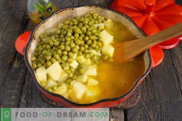 Greitas žirnių sriuba su jautiena