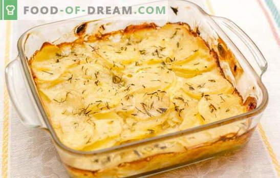 """Bulvės grietinėje, orkaitėje - jūsų stalo daržovių """"karalius"""". Mėgstami receptai bulvėms, keptoms grietinėje"""