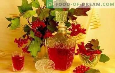 La teinture maison Viburnum est savoureuse et saine. Comment fabriquer à la maison une teinture de viburnum sur de l'alcool, du cognac, de la lune ou de la vodka