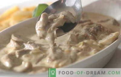 Mėsą grietinėlėje labai sunku sugadinti. 9 geriausi įvairių rūšių mėsos receptai grietinėlės padaže: vištiena, jautiena, kiauliena