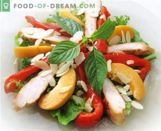 Bułgarska sałatka pieprzowa z kurczakiem - najlepsze przepisy. Jak prawidłowo i smacznie przygotować sałatkę z papryką i kurczakiem.