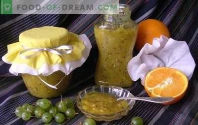 Kruisbessenjam met sinaasappels is een geurige, gezonde delicatesse. Originele en eenvoudige recepten van kruisbessenjam met sinaasappel