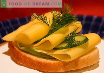 Kaassandwiches zijn de beste recepten. Hoe snel en lekker broodjes koken met kaas.