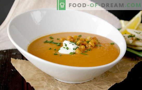 Skanios naminių lęšių sriuba. Lenten Lenten sriubos - receptų be mėsos ir sultinių pasirinkimas