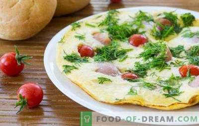 Omletas su dešrelėmis - paprastas ir turtingas pusryčiai! Skanių omletų su dešrelėmis virimas orkaitėje, mikrobangų krosnelė, lėta viryklė ir keptuvė