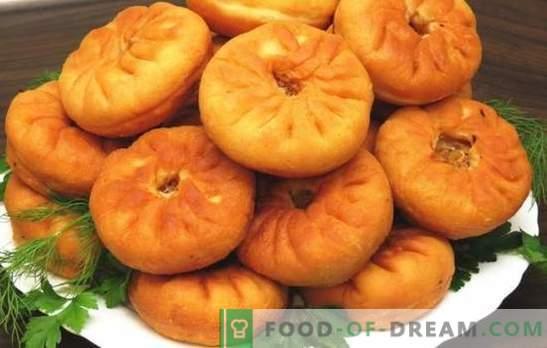 Belyashi su mėsa pan. Įvairių baltymų su mėsa receptai keptuvėje: mielės ir kefyras