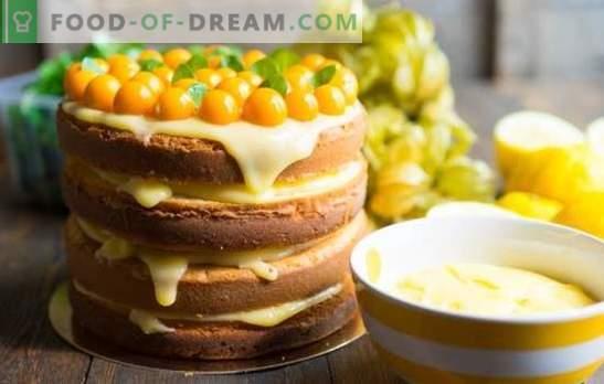 """Lemon Cake - Mood Charge! Receptai nuostabūs pyragaičiai """"Paukščių pienas"""" su manų kruopomis ir citrina, sausainiais ir daugeliu kitų"""