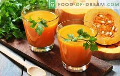 Pumpkin juice with oranges for the winter - a vitamin charge! Recipes pumpkin juice with oranges for sunny mood