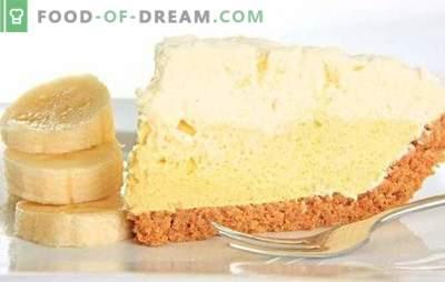 Bananų tortų kremas yra neprilygstamas delikatesas. Kaip lengvai ir greitai paruošti originalų bananų grietinėlės tortą