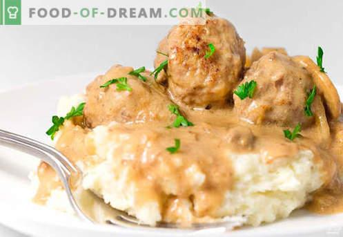 Albóndigas en salsa de crema agria - recetas probadas. Cómo preparar adecuadamente y sabrosas albóndigas cocidas en salsa de crema agria.