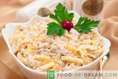 Salotos Tenderness - geriausi receptai. Kaip tinkamai ir skaniai ruošti salotus Tenderness.