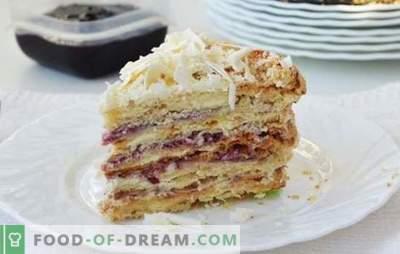 """Namų lapų pyragas """"Stretka-rag"""" - vaikystės skonis! Receptai lapų tešlos gaminiai ir kremai pyragui"""